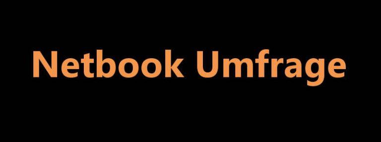 Netbook-Umfrage
