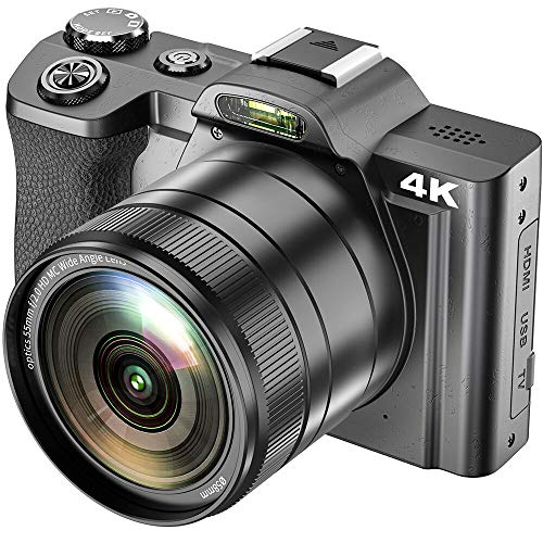 4K Digitalkamera, ACTITOP Digitale Videokamera Ultra HD 48MP WiFi YouTube Vlogging-Kamera 16X Digitalzoom 3,5-Zoll-IPS Touchscreen mit Weitwinkelobjektiv, Makro Lenkung, LED Licht und 2 Batterien