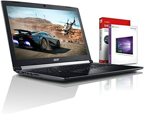 Acer Ultra i7 SSD Gaming (17,3 Zoll Full-HD) Notebook (Intel Core i7 8550U mit 4 GHz, 20GB DDR4, 1000 GB SSD, NVIDIA Geforce MX 150 GDDR5, DVDR/RW, HDMI, Windows 10, MS Office) #6090