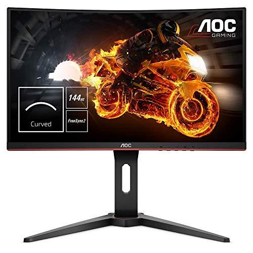 AOC Gaming C24G1 59,9 cm (23,6 Zoll) Curved Monitor (FHD, HDMI, 1ms Reaktionszeit, DisplayPort, 144 Hz, 1920 x 1080 Pixel, Free-Sync) schwarz