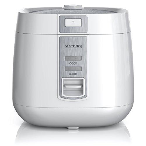 Arendo - Reiskocher - Dampfgarer Dampfgarerfunktion - 1,4l Kapazität - Überhitzungsschutz und Thermosicherung - automatische Warmhaltefunktion - wärmeisolierendes Doppelwanddesign - GS Prüfsiegel