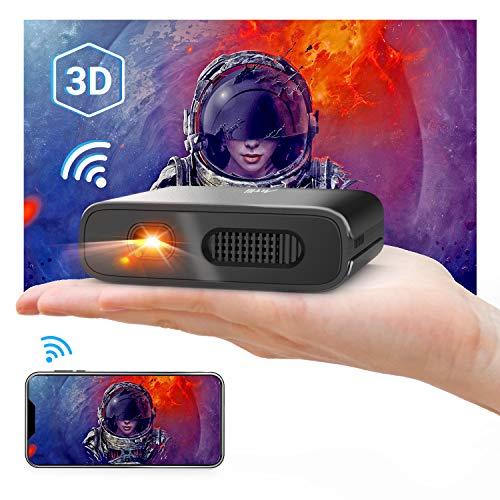 Artlii Mana Mini Beamer - WiFi Beamer DLP BeamerUnterstützt 3Dund 1080PEingebaute 5200mAh KleinBeamerUnterstützt AirPlay MiracastKompatibel Smartphone Laptop TV-Stick
