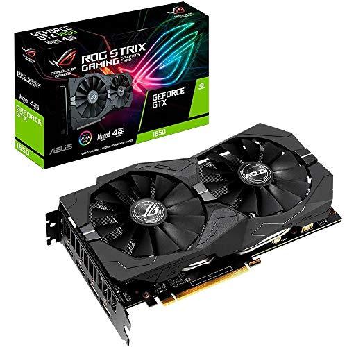 ASUS ROG STRIX NVIDIA GeForce GTX 1650 4G Gaming Grafikkarte (PCIe 3.0, 4GB DDR5 Speicher, HDMI, DVI, Displayport)