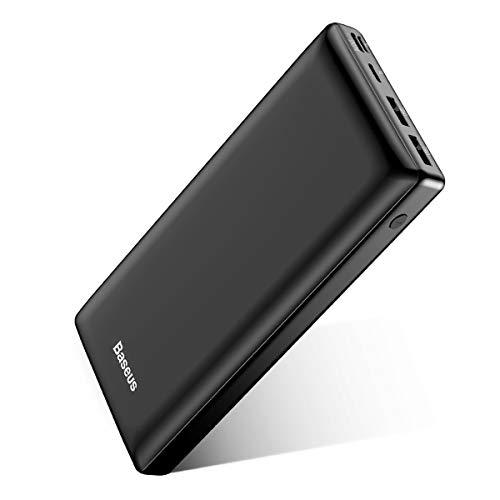 Baseus Power Bank Externer Akku 30000 mAh, USB C Schnelles Aufladen Tragbares Ladegerät für iPhone, iPad, Mac, Kompatibel mit Samsung, Huawei und mehr