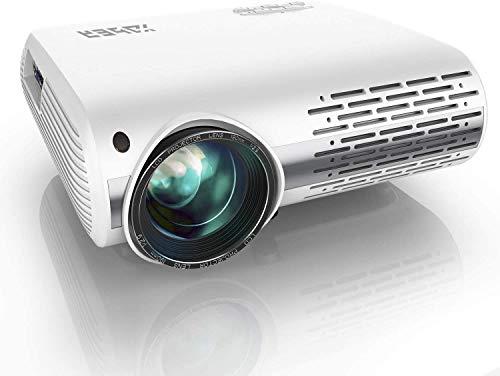 Beamer,YABER Beamer 7000 Lumen,Native 1080P Beamer,Beamer Heimkino Full HD mit ±50°4D Trapezkorrektur Unterstützt 4k & Zoom,LCD LED Projektor Kompatibel mit Telefon,PC,TV Box,PS4