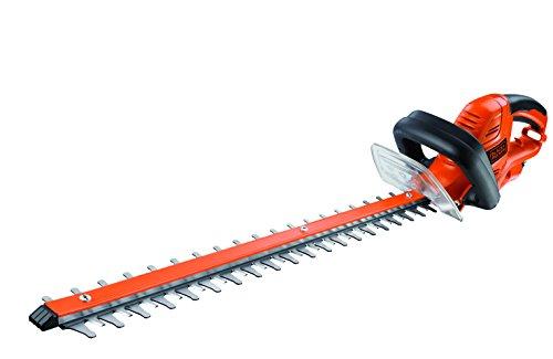 Black+Decker Elektrische Heckenschere GT5560 mit Kabelzugentlastung und Direktanschluss des Verlängerungskabels für maximalen Komfort – 25mm Schnittstärke – 550W – 60cm Sägeblatt-Länge – 2,9kg