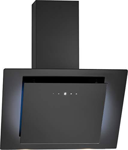 Bomann DU 7603 G kopffreie Vertikal-Haube / 60 cm/LED-Ambiente/Touch Control/Umluft- oder Abluftbetrieb/Abluft-Leistung max. 607 m³/h/schwarz