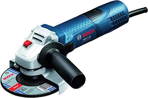 Bosch Professional Winkelschleifer GWS 7-125 (720 Watt, Scheiben-Ø: 125 mm, inkl. Zusatzhandgriff, Aufnahmeflansch, Spannmutter, Schutzhaube, Zweilochschlüssel, im Karton)