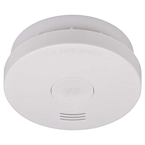 Brennenstuhl Rauchmelder RM L 3100 mit integrierter Batterie (10 Jahres Batterie, geprüft und zertifiziert nach VdS DIN EN 14604) weiß