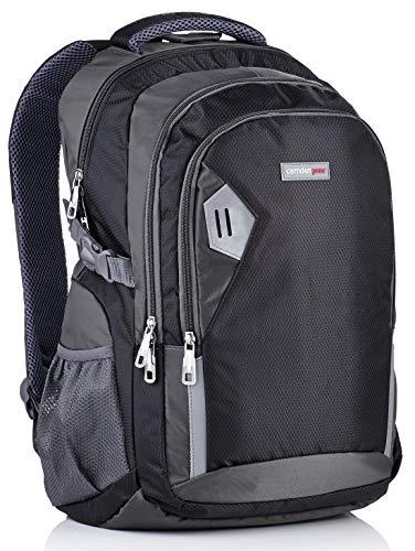 Camden Gear Schulrucksack / Laptop-Rucksack für Herren / Laptops mit bis zu 43,2 cm (17 Zoll), wasserabweisend, mit mehreren Fächern, Schwarz / Grau
