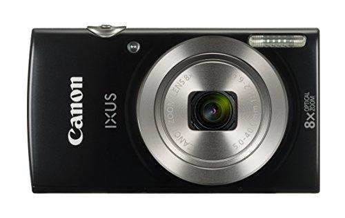 Canon IXUS 185 Digitalkamera (20 MP, 6,8cm (2,7 Zoll) LCD, Display, DIGIC 4+, 8x optischer Zoom, Smart Auto, HD Movies, USB, 720p) schwarz