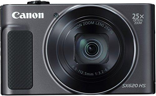 Canon PowerShot SX620 HS Digitalkamera (20,2 MP, 25-fach optischer Zoom, 50-fach ZoomPlus, 7,5cm (3 Zoll) Display, opt Bildstabilisator, WLAN, NFC) schwarz