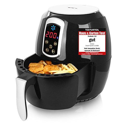 """Emerio Heißluftfritteuse, Airfryer, Smart Fryer, Test """"GUT"""", Frittieren ohne Öl, 3,6 Liter Volumen, 1400 Watt, AF-115668"""