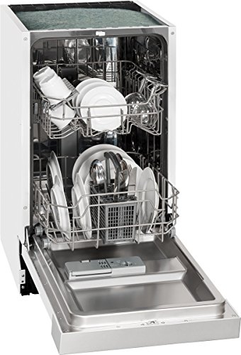 Exquisit Einbau-Geschirrspüler EGSP 1009 E/B | Teilintegriert, Einbaugerät | 9 Maßgedecke | Weiß