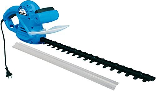 Güde 94001 GHS 510 P Elektro Heckenschere (500W, 460mm Schnittlänge, 16mm Messerabstand, Messer Schnellstop, Schwertschutz), Schwarz, Blau