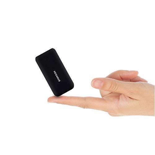 Heganus Powerbank 10000mAh, Mini Kompakte Externer Akku, Kleine und Leichter Power Bank mit Micro+USB C, Handy Ladegerät Leicht Compact Externer Batterie für iPhone,Samsung,Huawei,iPad (Schwarz)