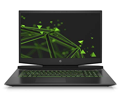 HP Pavilion 17-cd0222ng (17,3 Zoll / Full HD IPS 60Hz) Gaming Laptop (Intel Core i5-9300H, 16GB DDR4, 1TB HDD, 256GB SSD, Nvidia GeForce GTX 1650 4GB DDR5, Windows 10) schwarz/grün