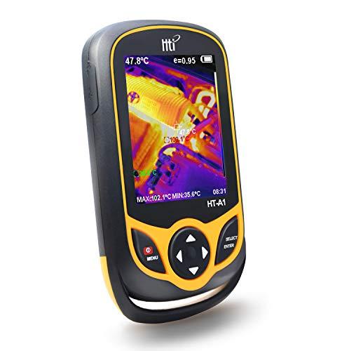 Hti-Xintai - Wärmebildkamera, Infrarotkamera im Taschenformat mit Echtzeit-Thermografie, Infrarot-Bildauflösung von 220 x 160, Temperaturmessbereich -20°C bis 300°C, Mini IR-Wärmebildkamera