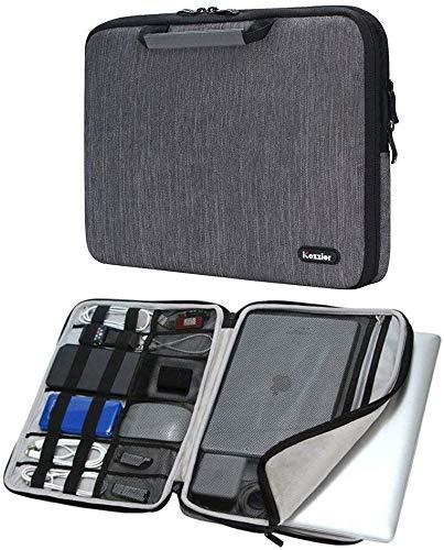 iCozzier 11-11,6 Zoll Notebook Hülle Tasche mit Griffen/Multifunktionale Aufbewahrungs Zubehörtasche für 11 Zoll Laptop/Ultrabook/Netbook/MacBook - Grau