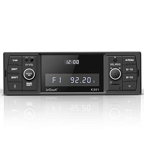 ieGeek Bluetooth Autoradio, RDS/MP3/FM/AM/SD/AUX/USB Funktion mit doppelt drehenden Lautstärketasten, Mit Bluetooth Freisprecheinrichtung