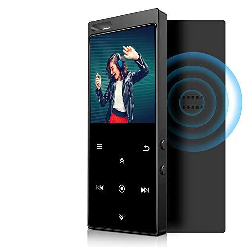 IHOUMI 32GB MP3 Player Bluetooth 4.2 mit Verlustfreier Sound FM Radio,Sprachaufzeichnung,E-Book Funktionen,1.8 Zoll Sport MP3-Player mit Lanyard,Unterstützt bis 128GB TF Karte