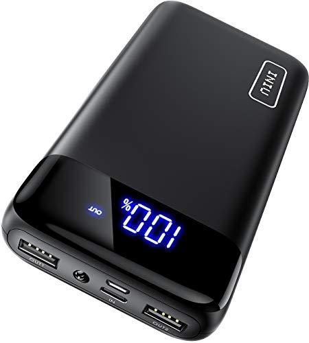 INIU Powerbank, Kompakte LED-Anzeige 20000mAh Externer Akku mit Dualer 3A Ausgängen und USB-C Eingang, Power Bank für Handy iPhone 11 X 8 Samsung S10 Huawei P20 Xiaomi Oppo Nexus iPad Tablet und mehr