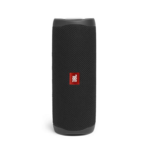JBL Flip 5 Bluetooth Box in Schwarz – Wasserdichter, portabler Lautsprecher mit umwerfendem Sound – Bis zu 12 Stunden kabellos Musik abspielen
