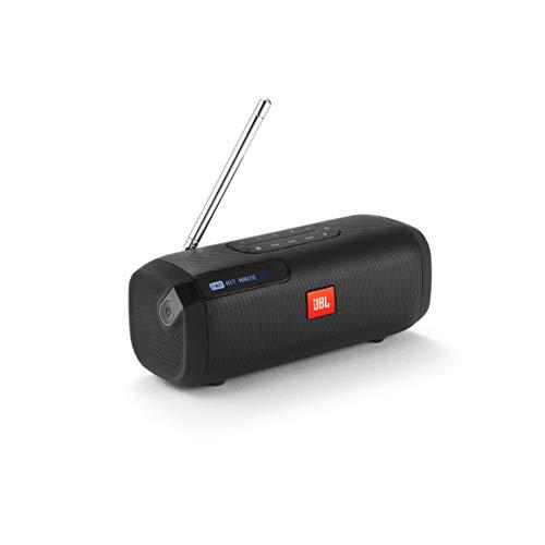 JBL Tuner Radiorekorder in Schwarz – Tragbarer Bluetooth Lautsprecher mit DAB+ & UKW Radio – MP3 fähige Musikbox – Bis zu 8 Stunden kabellos Digitalradio genießen