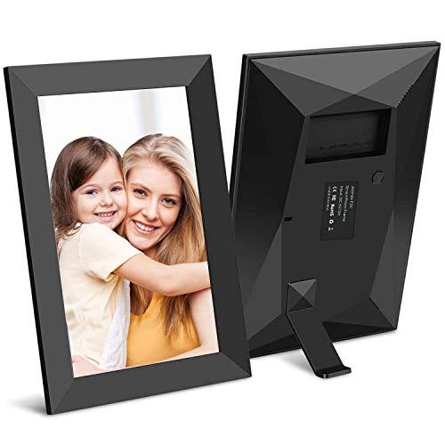 Jeemak Digitaler Bilderrahmen 8 Zoll WLAN Fotorahmen FHD IPS Touchscreen Mit Porträte oder Landscape Modus Fotos und Videos können jederzeit und von überall aus, über die App geteilt Werden