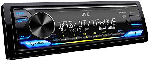 JVC KD-X472DBT USB-Autoradio mit DAB+ und Bluetooth Freisprecheinrichtung (Alexa Built-in, Soundprozessor, USB, AUX-In, Spotify Control, 4 x 50 Watt, VAR. Beleuchtung, DAB+ Antenne*)