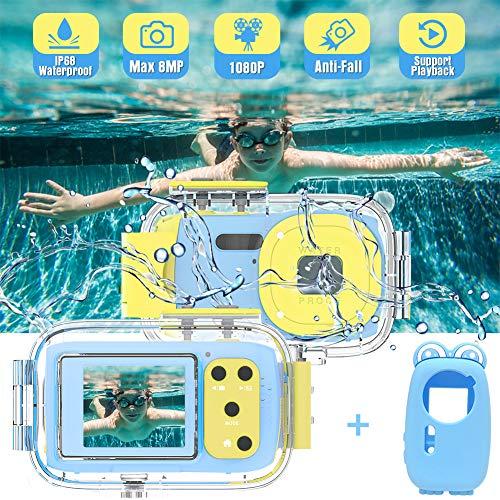 Kinderkamera Unterwasserkamera Full HD 1080P Kamera für Kinder Wiederaufladbare wasserdichte Kamera Bestes Geburtstagsfestgeschenk für Kinder