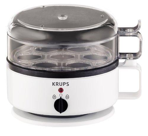 Krups F23070 Eierkocher mit Wasserstandsanzeige   Für bis zu 7 Eier   Koch- und Warmhaltefunktion   Weiß