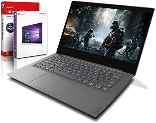 Lenovo (14,0 Zoll Full-HD) Ultrabook (1.5kg), großer 8h Akku, AMD 3020e (Ryzen Core) 2x2.6 GHz, 8GB DDR4, 256 GB SSD, Radeon RX, HDMI, Webcam, BT, USB 3.0, WLAN, Win10 Prof., MS Office Laptop #6564