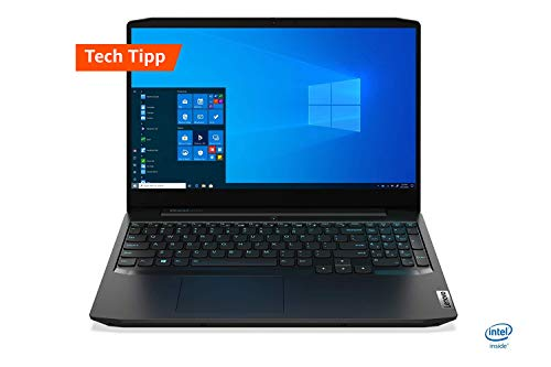 Lenovo IdeaPad Gaming 3i  Laptop 39,6 cm (15,6 Zoll, 1920x1080, FHD, IPS, entspiegelt) Gaming Notebook (Intel Core i5-10300H, 8 GB RAM, 512 GB SSD, NVIDIA GeForce GTX 1650, Windows 10 Home) schwarz