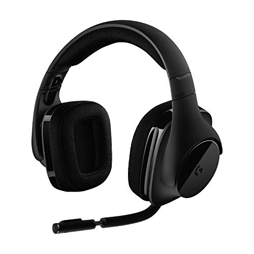 Logitech G533 Wireless Gaming-Headset, 7.1 Surround Sound, DTS Headphone:X, 40mm Pro-G Treiber, 2.4 GHz Wireless, Noise-Cancelling Mikrofon, 15-Stunden Akkulaufzeit, PC/Mac