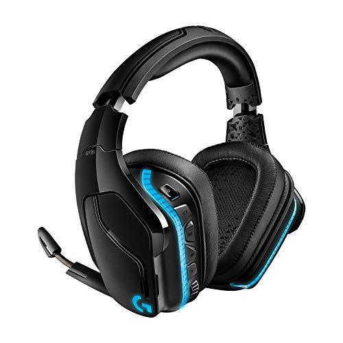 Logitech G935 Wireless RGB Gaming-Headset, 7.1 Surround Sound, DTS Headphone:X 2.0, 50 mm Treiber, 2.4 GHz Kabellos, Flip-Stummschaltung, PC/Mac/Xbox One/PS4/Nintendo Switch - schwarz