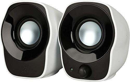 Logitech Z120 Notebook-Lautsprecher 2.0 (mit 3,5 mm USB-Stromversorgung) schwarz/Weiß