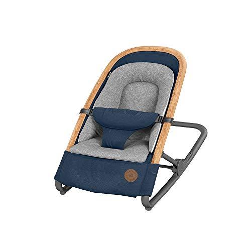 Maxi-Cosi Kori 2-in-1 Babywippe, hochwertige Babyschaukel nutzbar ab der Geburt bis max. 9 kg, natürliches, ergonomisches Schaukeln ohne Elektronik, einfach zusammenklappbar, Essential blue (blau)