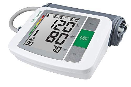 Medisana BU 510 Oberarm-Blutdruckmessgerät ohne Kabel, Arrhythmie-Anzeige, WHO-Ampel-Farbskala, für präzise Blutdruckmessung und Pulsmessung mit Speicherfunktion