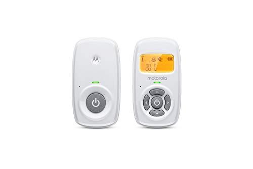 Motorola Baby MBP24 Babyphone Audio - Digitales Babyfon mit DECT-Technologie zur Audio-Überwachung - Raumtemperaturanzeige - Mikrofon mit hoher Empfindlichkeit und Zweiwege-Sprechfunktion – Weiß