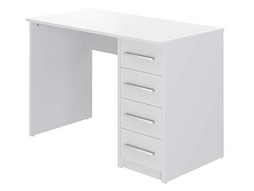 Movian Idro moderner Schreibtisch mit 4 Schubladen, 56 x 110 x 73, Weiß
