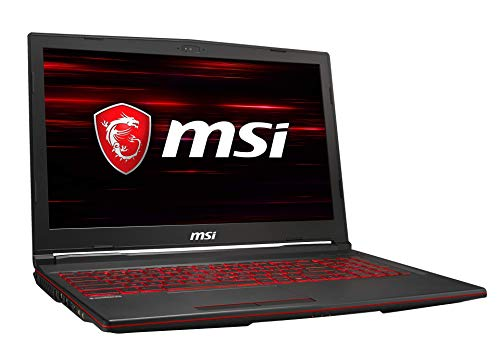 MSI GL63 8RCS-074DE (39,6 cm/15,6 Zoll) Gaming-Laptop (Intel Core i7-8750H, 8 GB RAM, 256 GB PCIe SSD + 1TB HDD, Nvidia GeForce GTX 1050 4 GB, Windows 10 Home)