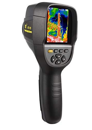 Neue Infrarot-Wärmebildkamera mit einer höheren Auflösung von 320 x 240 IR. Modell HTI-19 mit verbesserten 300.000 Pixeln, scharfem 3,2-Zoll-Farbdisplay, Batterie im Lieferumfang enthalten.