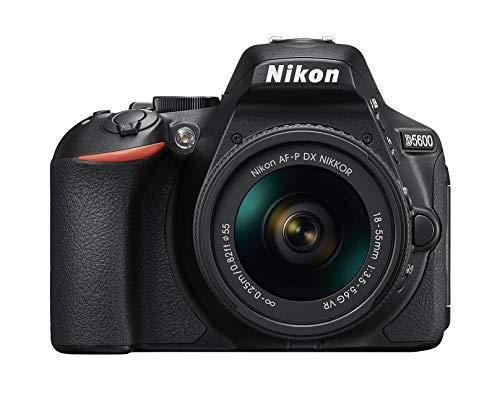 Nikon D5600 Kit AF-P DX 18-55 VR Spiegelreflexkamera (8,1 cm (3,2 Zoll), 24,2 Megapixel) schwarz