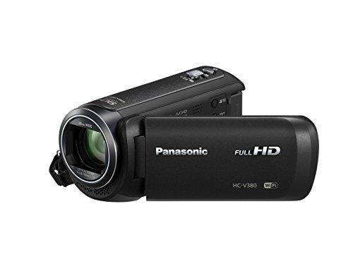 Panasonic HC-V380EG-K Full HD Camcorder (Full HD, 50x optischer Zoom, 28 mm Weitwinkel, optischer 5-Achsen Bildstabilisator Hybrid OIS+, WiFi) schwarz