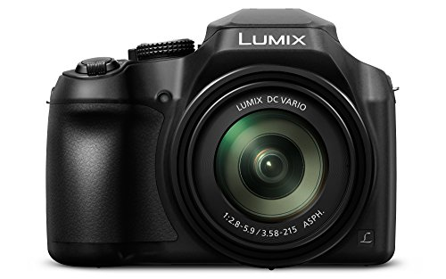 Panasonic Lumix DC-FZ82 Bridgekamera (18 Megapixel, 20 mm Weitwinkel, 60x opt. Zoom, 4K30p Videoaufname, Hybrid Kontrast AF) schwarz