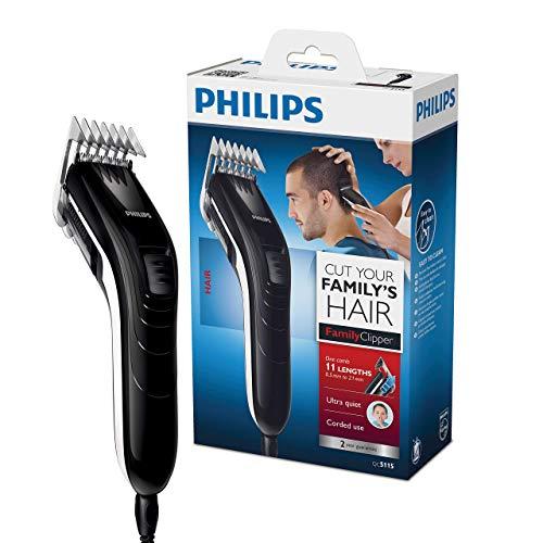 Philips QC5115/15, Haarschneidemaschine für die ganze Familie, extra leise mit Netzbetrieb