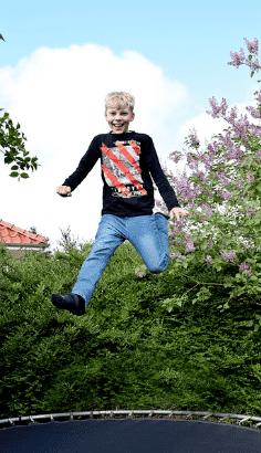 rundes trampolin fuer kinder