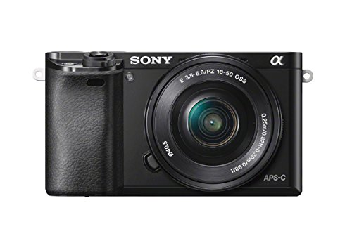 "Sony Alpha 6000 Systemkamera (24 Megapixel, 7,6 cm (3"") LCD-Display, Exmor APS-C Sensor, Full-HD, High Speed Hybrid AF) inkl. SEL-P1650 Objektiv schwarz"