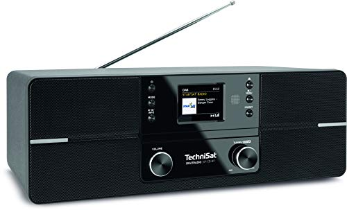 TechniSat DIGITRADIO 371 CD BT - Stereo Digitalradio (DAB+, UKW, CD-Player, Bluetooth, Farbdisplay, USB, AUX, Kopfhöreranschluss, Kompaktanlage, Wecker, 10 Watt, Fernbedienung) schwarz